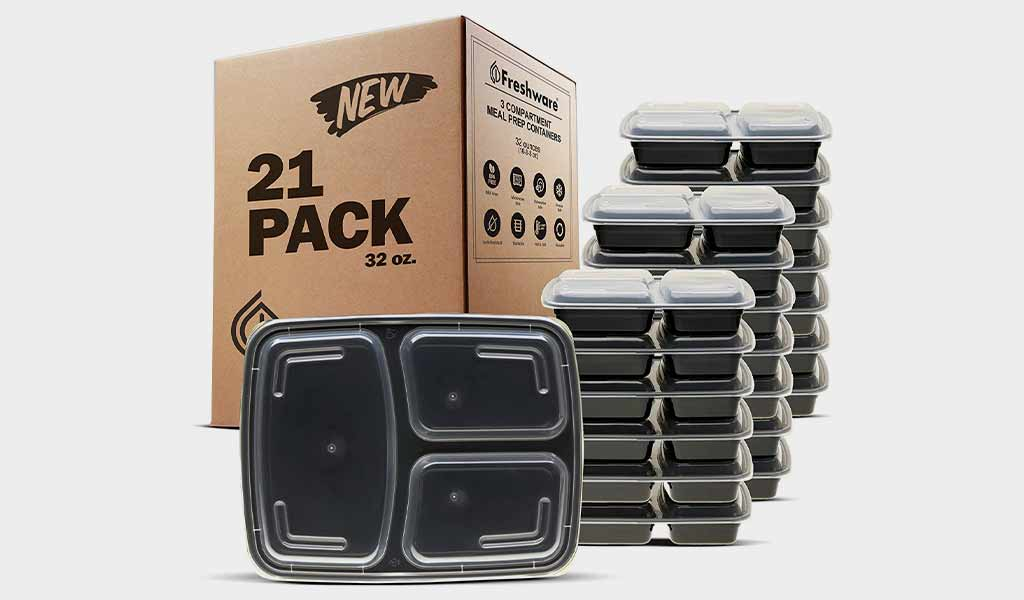 Freshware Meal Prep Containers (Premium recommendation)