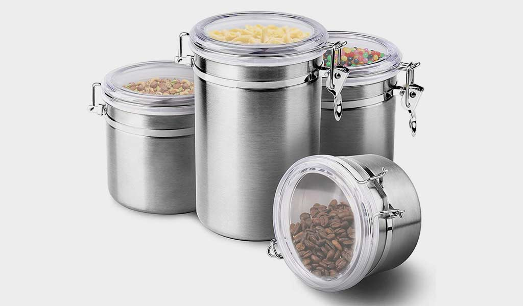 Enloy Stainless Steel Airtight Food Containers with Clear Lids