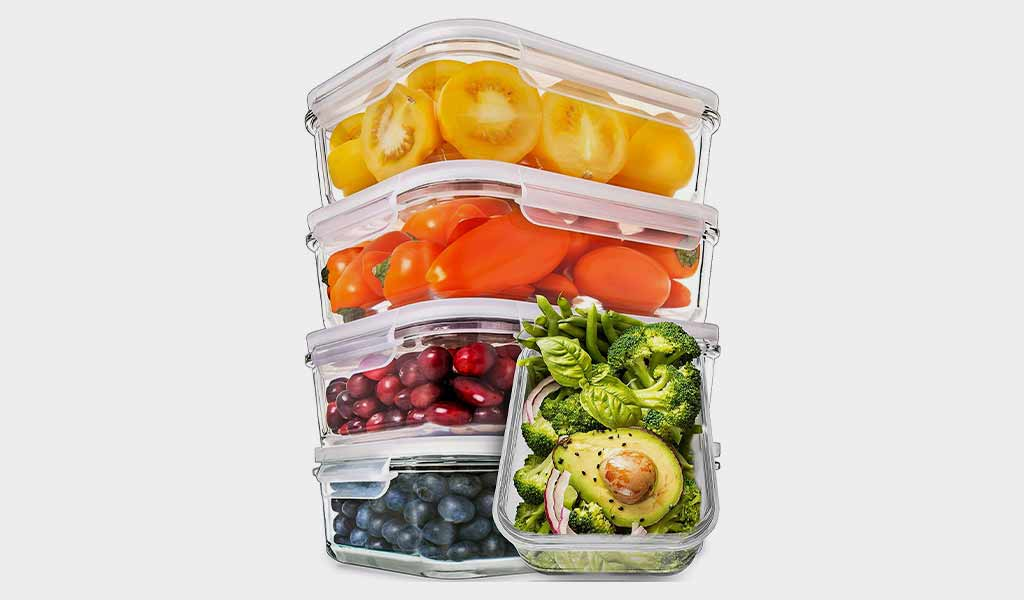 Prep Naturals Glass Meal Prep Airtight Containers