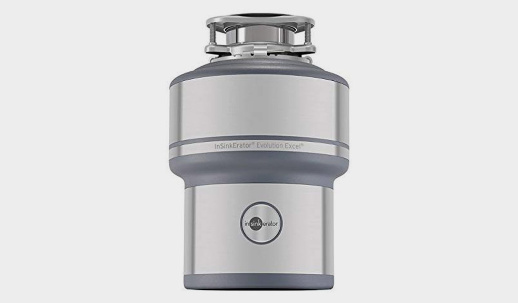 InSinkErator Garbage Disposal- Evolution Excel technology, 1.0 HP Continuous feed at 1.0HP