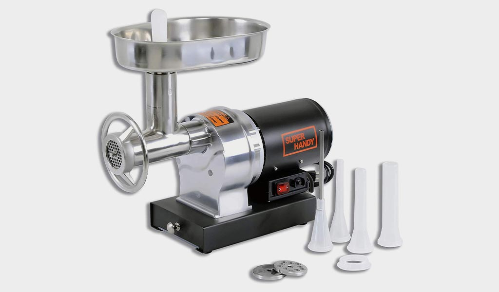 SuperHandy Stainless Steel HP Electric Meat Grinder