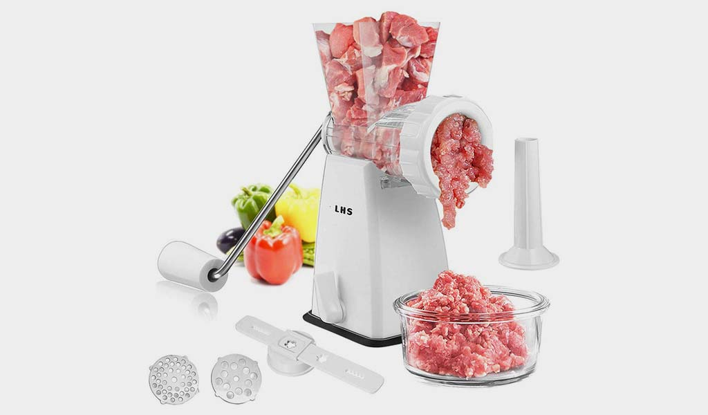 Manual Meat Grinder with Stainless Steel Blades