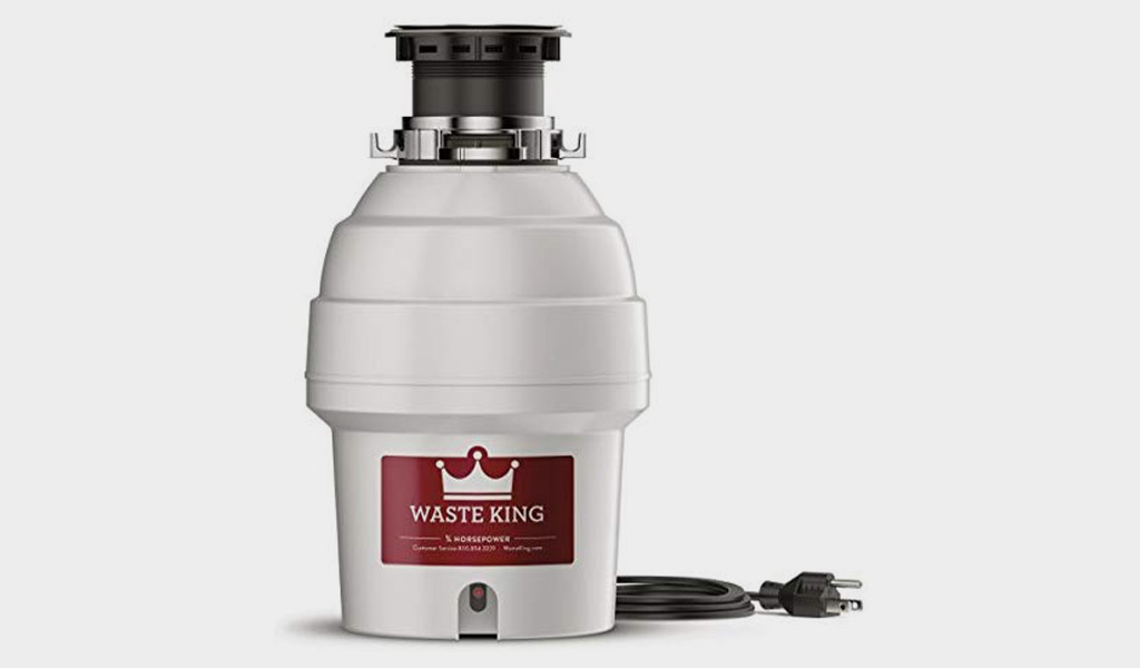 Waste King L-1001 Garbage Disposal with1/2 HP Motor, and Power Cord