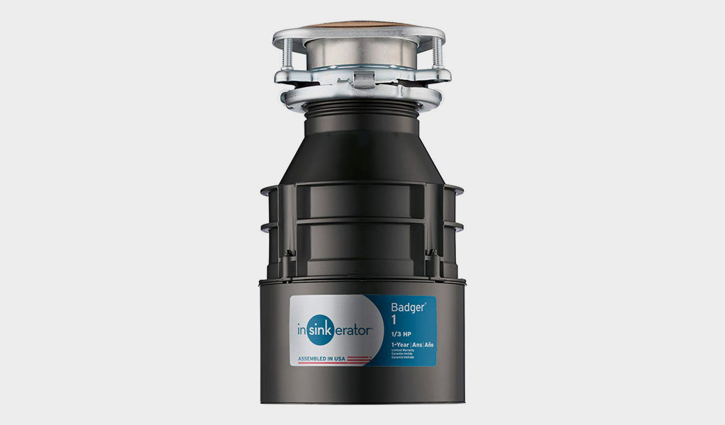 InSinkErator Garbage Disposal-Badger 1 with 1/3 HP Motor and Continuous Feed