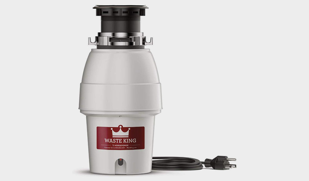 Waste King L-2600 Garbage Disposal With 1/2 HP And Power Cord
