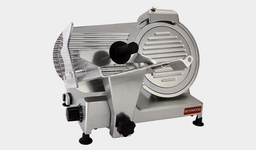 BESWOOD Electric Deli Meat Cheese Food Slicer