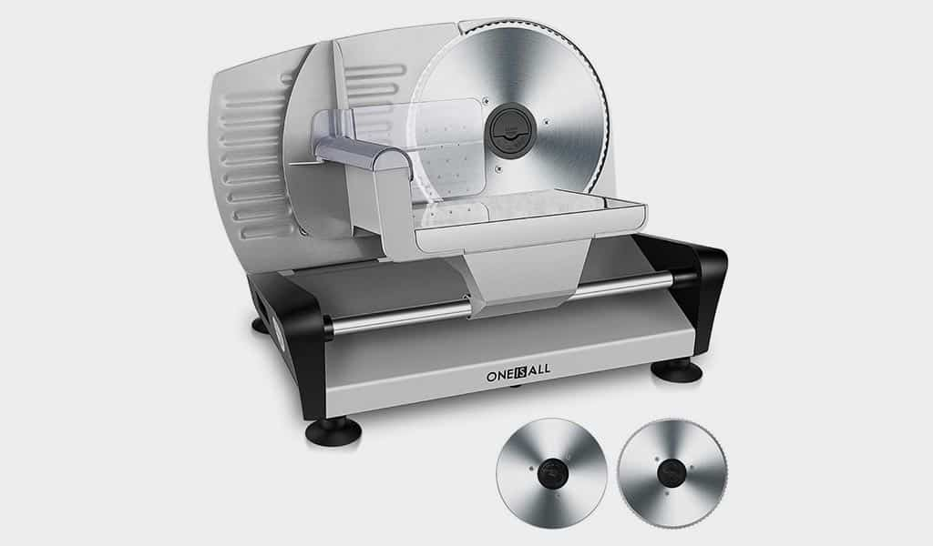 ONEISALL Professional Meat Deli Bread Food Slicer